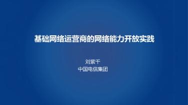 刘紫千-基础运营商的网络能力开放实践