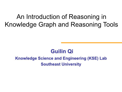 -An Introduction of Reasoning in Knowledge Graph and Reasoning Tools