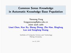 -Common Sense Knowledge in Automatic Knowledge Base Population