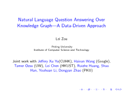 -Natural Language Question Answering Over Knowledge Graph