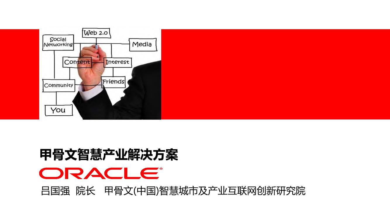 吕国强-Oracle 智慧产业解决方案