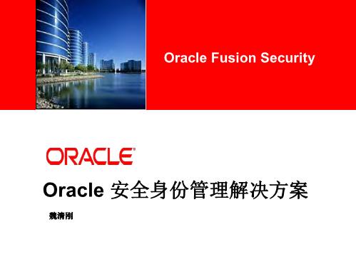 魏清刚-Oracle 安全身份管理解决方案