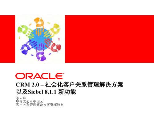 李云峰-Oracle Siebel CRM社会化客户关系管理解决方案