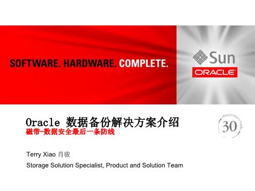 肖骏-Oracle 数据备份解决方案