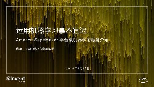 肖凌-Amazon SageMaker 平台级机器学习服务