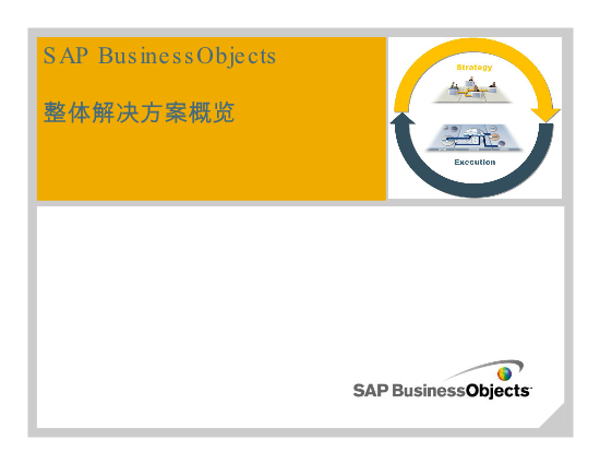 -SAP Business Objects 解决方案概述