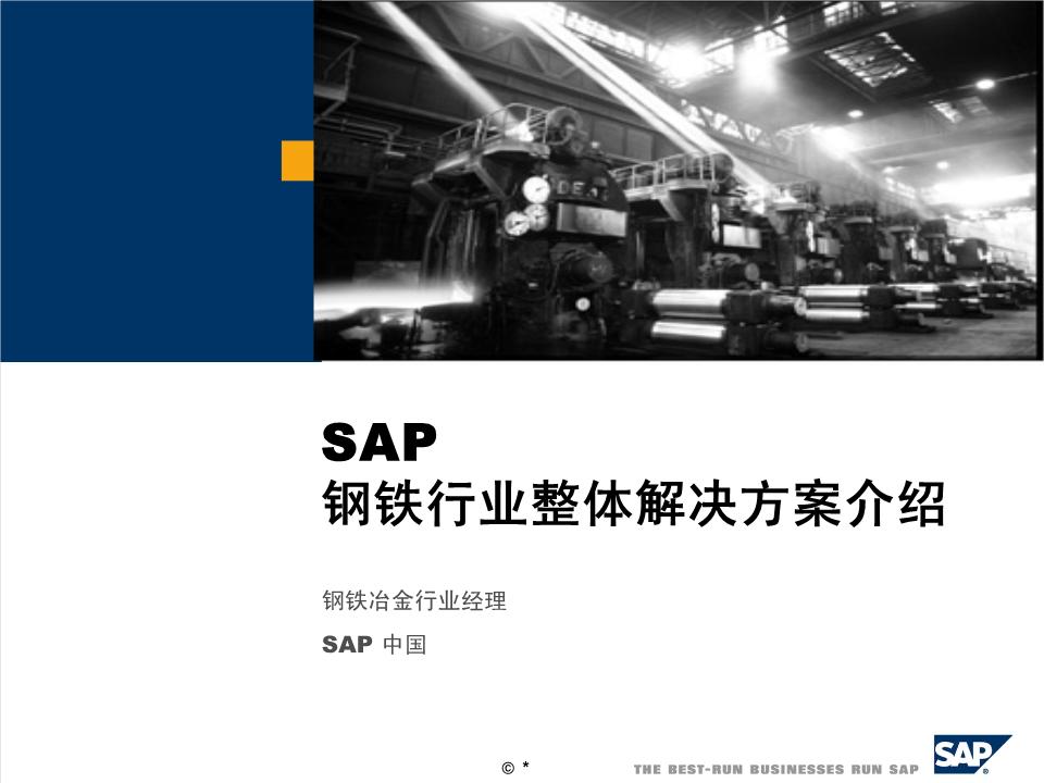 -SAP钢铁行业整体解决方案