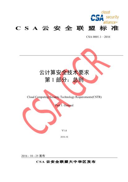 -CSA云计算安全技术要求总则