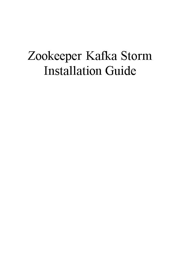 -zookeepe kafka storm安装手册