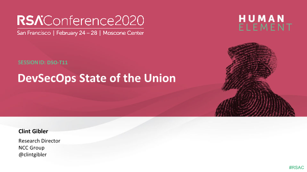 -DevSecOps State of the Union