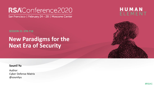 -New Paradigms for the Next Era of Security