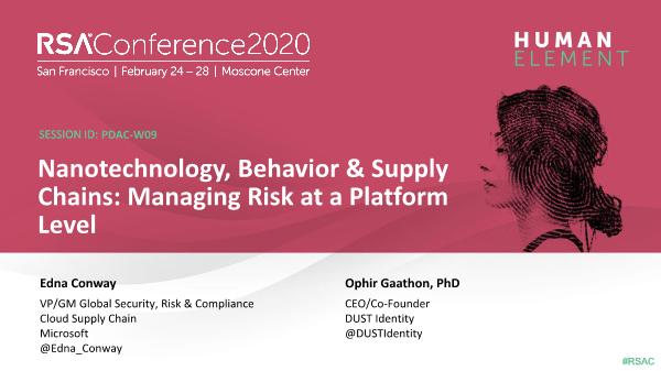 -Nanotechnology Behavior and Supply Chains Managing Risk at a Platform Level