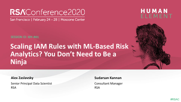 -Scaling IAM Rules with ML Based Risk Analytics