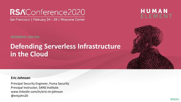-Defending Serverless Infrastructure in the Cloud