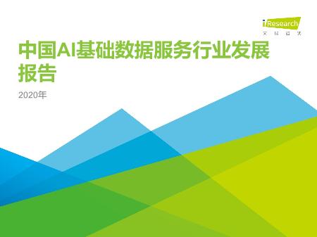 -2020年中国AI基础数据服务行业研究报告
