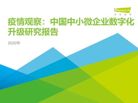 -2020年中国中小微企业数字化升级研究报告