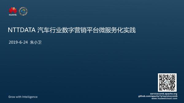 朱小卫-汽车行业数字营销平台微服务化实践