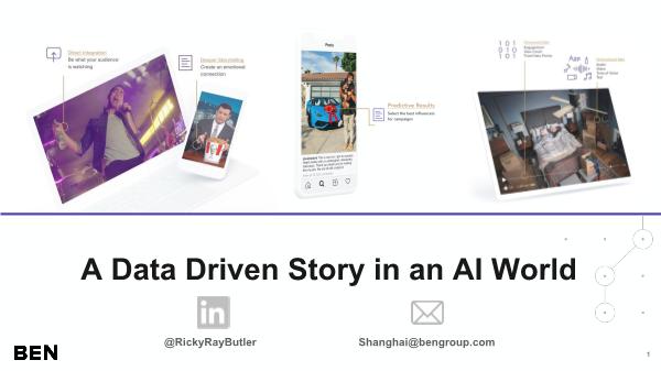 -A Data Driven Story in an AI World