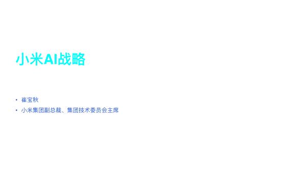 崔宝秋-小米AI战略
