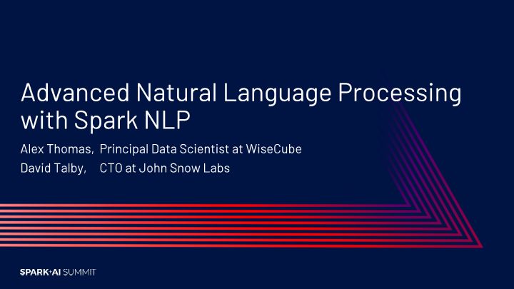David Talby-advanced natural language processing with apache spark nlp