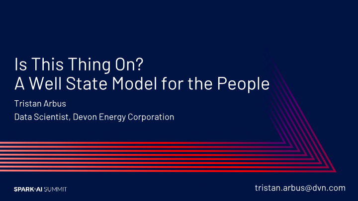 Tristan Arbus -is this thing on a well state model for the people