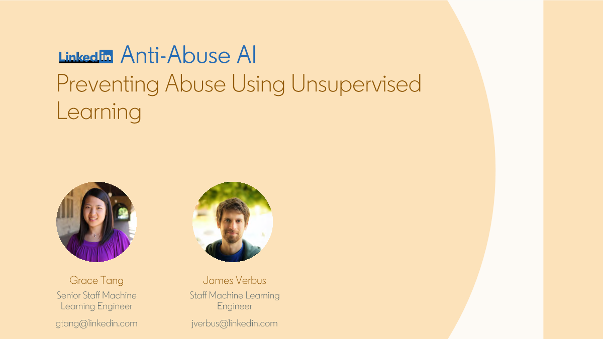 Grace Tang -preventing abuse using unsupervised learning