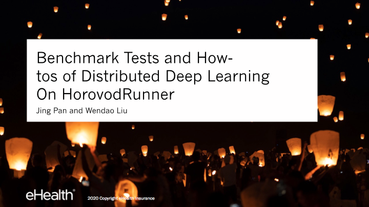 -benchmark tests and howtos of convolutional neural network on horovodrunner enabled apache spark clusters