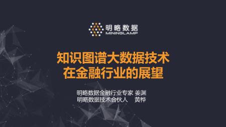 黄桦-知识图谱大数据技术在金融行业中的展望