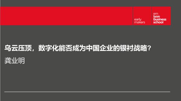 龚业明-数字化能否成为中国企业的银衬战略