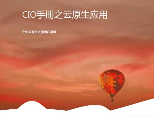 -CIO手册之云原生应用之旅