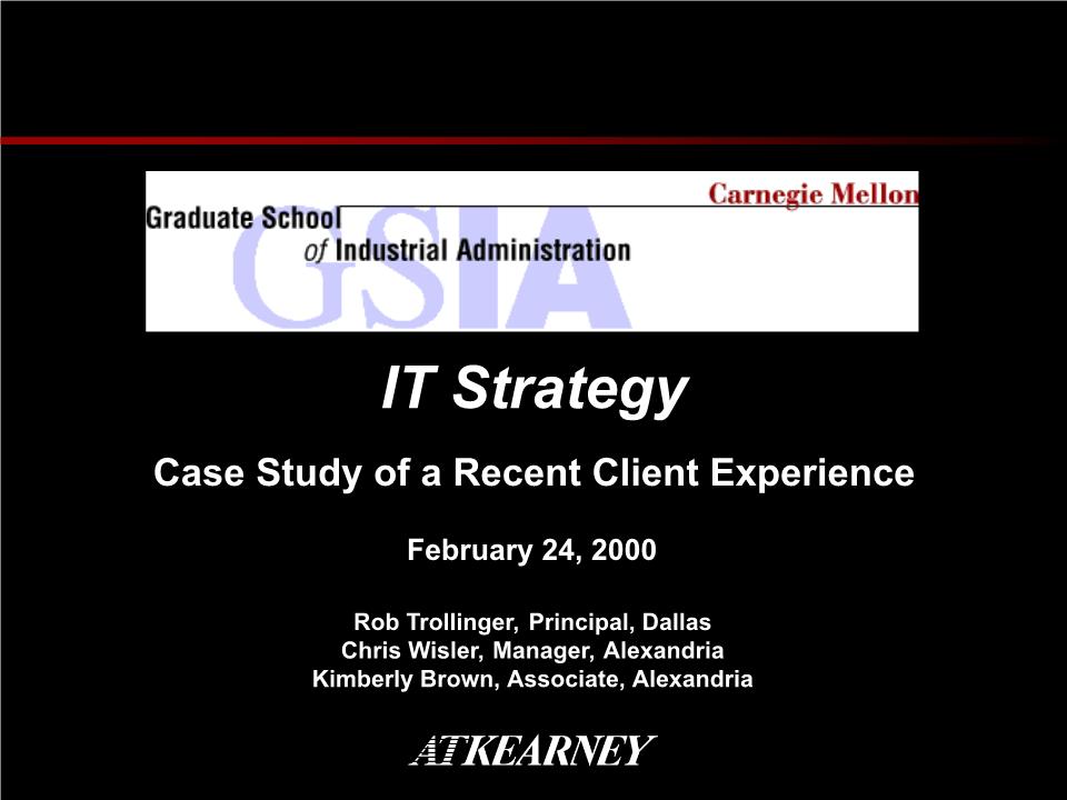 -IT战略规划