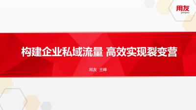 王峰-构建企业私域流量 高效实现裂变营销