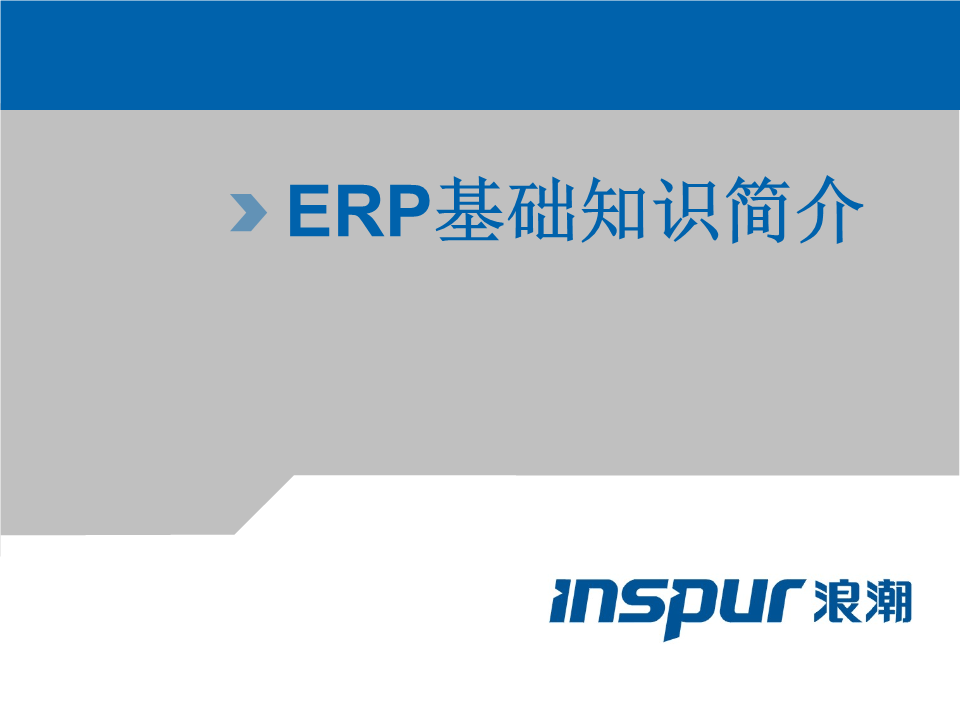 -ERP理论基础知识