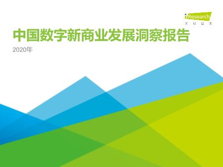 -2020年中国数字新商业发展洞察报告