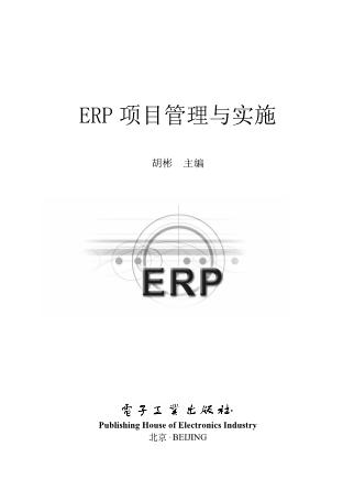 胡杨-ERP项目管理与实施