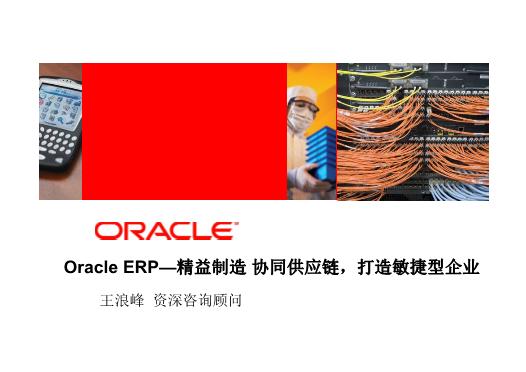 王浪峰-Oracle ERP 精益制造 协同供应链 打造敏捷型企业