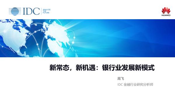 高飞-新常态新机遇银行业发展新模式
