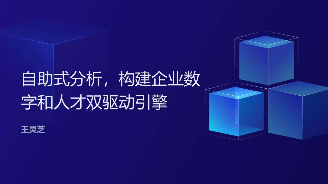 王灵芝-自助式分析构建企业数字和人才双驱动引擎