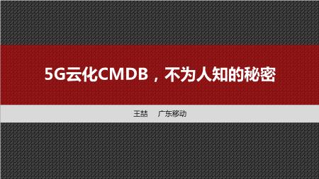 王喆 -5G云化CMDB不为人知的秘密