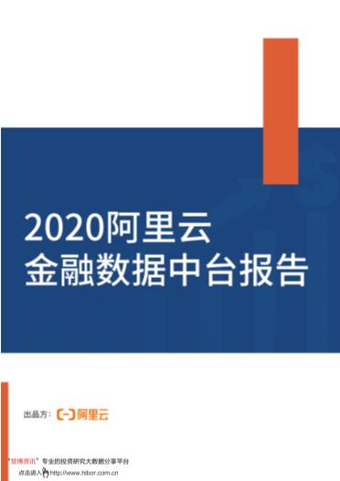 -2020阿里云金融数据中台报告