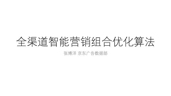 张博洋-全渠道智能营销组合优化算法