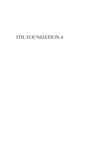 -ITIL4 foundation 最新中文教程