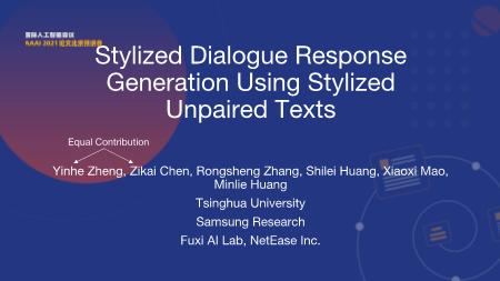 郑银河-Stylized Dialogue Response Generation Using Stylized Unpaired Texts