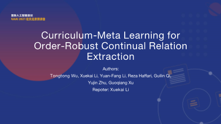 李学恺-Curriculum Meta Learning for Order Robust Continual Relation Extraction