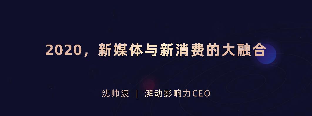 沈帅波-2020新媒体与新消费的大融合