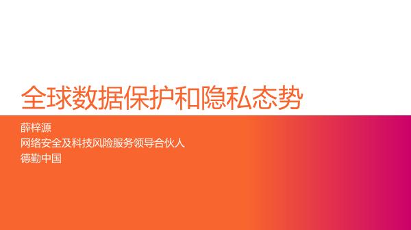 薛梓源-全球数据保护和隐私态势